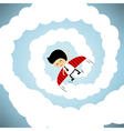 Businessman rocket flying with wings EPS10 vector image vector image