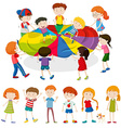 Children playing game together vector image vector image