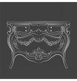 Classic vintage commode furniture vector image