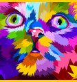 close up adorable fat cat vector image vector image