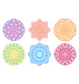 colorful mandala ethnic round gradient ornament vector image vector image