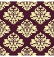 Damask style seamless arabesque pattern vector image vector image