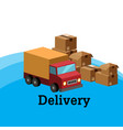 delivery truck and box background image vector image vector image