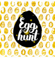 egg hunt postcard design vector image