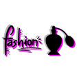 fashion perfume vector image vector image