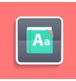 Flat Dictionary Icon vector image vector image