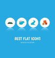 flat icon bio set of pond peak canadian and vector image
