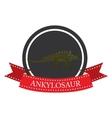 flat icon dinosaur ankylosaur vector image vector image