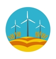 flat icon windmill vector image