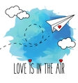 Flying hand drawn paper plane vector image vector image