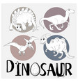 four types of dinosaurs on white poster vector image vector image
