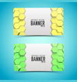 geometric abstract horizontal banners vector image