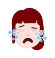 girl head emoji personage icon with facial vector image vector image