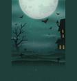 halloween poster background foggy landscape of vector image