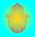 hamsa hand drawn symbol fatima hand pattern vector image