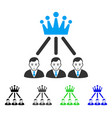happy hierarchy men icon vector image vector image