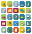 Hi tech color icons with long shadow vector image vector image