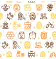honey signs seamless pattern background on a white vector image vector image