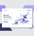 Internet connection concept