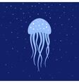Jellyfish under water Marine life vector image vector image