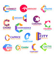 letter c corporate identity business icons vector image vector image