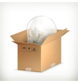 Light bulb in box vector image vector image