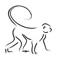 line art of a monkey vector image vector image