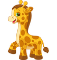 Little giraffe toy vector image vector image