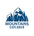 mountains expedition symbol for sport design vector image vector image