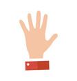open empty hands showing different gestures hands vector image vector image