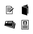 paper document simple related icons vector image vector image