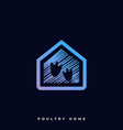 poultry home template vector image