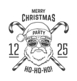 Santa Claus with hipster glasses and candy cones vector image vector image