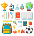 school and education items vector image