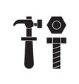 screws and bolts black concept icon screws vector image