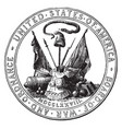 seal of the board of war and ordnance 1776 vintage vector image vector image