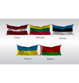 set flags of european countries waving flag of vector image vector image