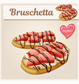 strawberry bruschetta icon cartoon vector image