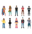 Subcultures People Icons Set vector image vector image