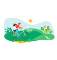 summer outdoor activity cycling vector image vector image