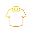 t-shirt yellow outline icon or symbol vector image