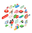 temporary team icons set isometric style vector image vector image