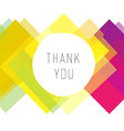 thank you colorful design vector image vector image