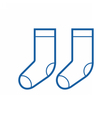 thin line socks icon vector image