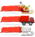 Transport with Banner Set 2 vector image vector image