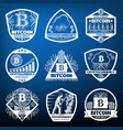 Vintage bitcoin currency labels set