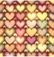 vintage colors hearts seamless pattern vector image vector image