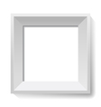 White image and photo frame vector image