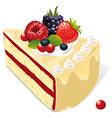 white vanilla cake vector image