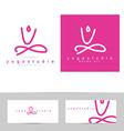 Yoga pose logo vector image vector image